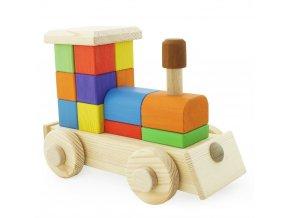 67100 Dřevěná skládací Mašinka (1)