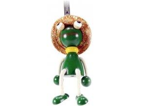 40216 (4) figurka na pruzine ze dreva zaba pro deti