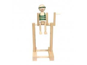66003 kluk na hrazdě ze dřeva zelený