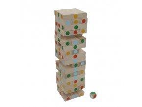 66009 hra věž barevná ze dřeva