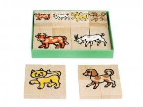 66017 dřevěné skládací puzzle domácí zvířata (2)
