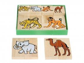 66019 dřevěné skládací puzzle africká zvířata (1)