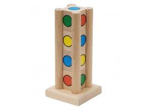 66044 dřevěná věž hra pro děti