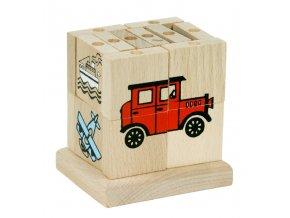 66006 skládací dřevěná kostka dopravní stroje (1)