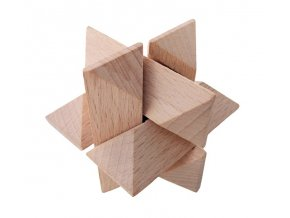 66037 dřevěný hlavolam hvězda (2)
