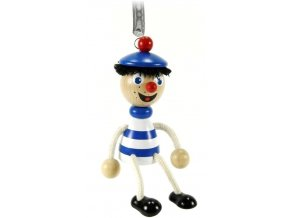 40273 figurka na pruzine ze dreva namornik (1) pro deti