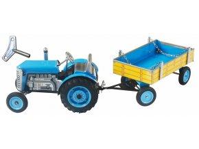Traktor ZETOR s valníkem modrý na klíček