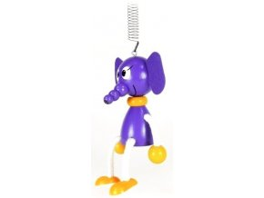 40281 (5) figurka na pruzine ze dreva slon pro deti