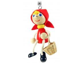 40297 (2) figurka na pruzine ze dreva cervena karkulka pro deti