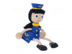 50104 dřevěná panenka figurka pošťačka
