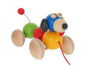 68110 dřevěná tahací hračka barevný pejsek (2)