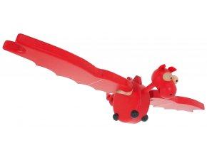 68121 červený dráček ze dřeva létavec (2)
