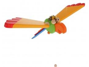 68124 dekorace do dětského pokoje záěsný papopušek dřevěný