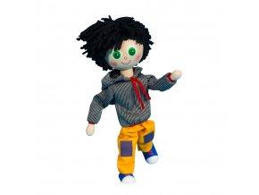 63288 dřevěná panenka kluk s ohebnými končetinami