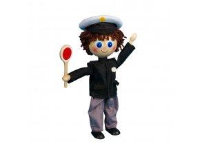 63290 dřevěná ohebná hračka policista