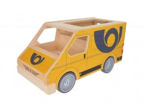 63292 poštovní vozidlo dřevěná hračka (2)