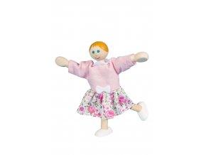 63305 ohebná panenka holka dřevěná hračka