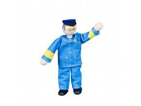 63312 ohebný oblečený panáček pro děti pošťák