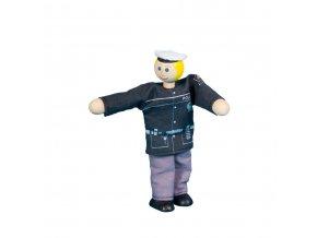 63313 dřevěná panenka policistka ohebná hračka