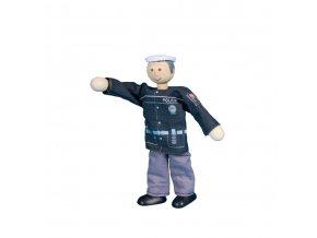 63314 ohebný panáček policista dřevěná hračka