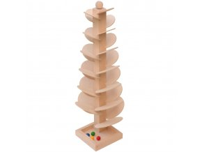 66054 zvuková dřevěná hračka natur kkuličková dráha