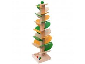 66055 zvuková hra dřevěný tobogán strom kuličková dráha