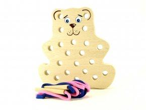 42206 medvěd dřevěná hračka šití pro děti (3)