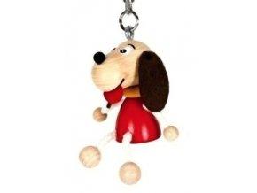 Figurka přívěšek ze dřeva - Pes
