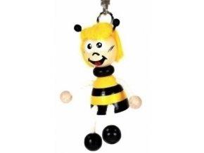 Figurka přívěšek ze dřeva - Včelka