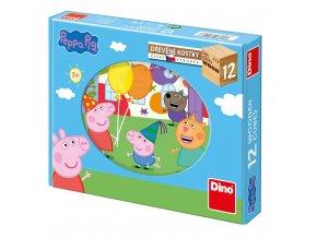 Obrázkové kostky - PEPA PIG 12ks