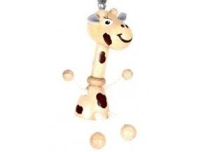 Figurka přívěšek ze dřeva - Žirafa