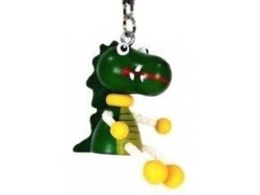 Figurka přívěšek ze dřeva - Krokodýl