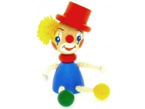 Figurka magnetka ze dřeva - Klaun klobouk