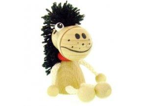 Figurka magnetka ze dřeva - Kůň