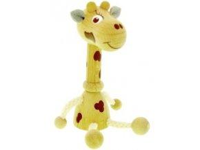 Figurka magnetka ze dřeva - Žirafa