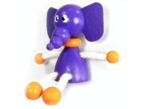 Figurka magnetka ze dřeva - Slon
