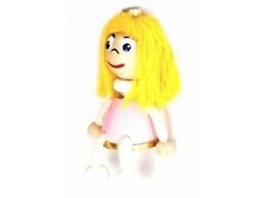 Figurka magnetka ze dřeva - Princezna