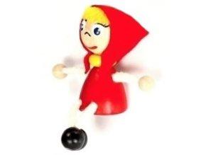 Figurka magnetka ze dřeva - Červená Karkulka