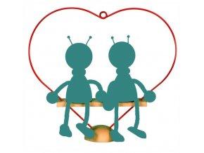 Stojan duo srdce ze dřeva