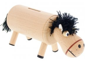 Kasička hračka ze dřeva koník James
