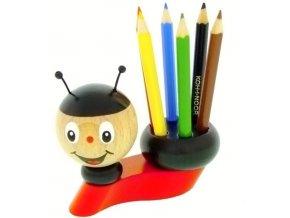 Stojánek na tužky hračka ze dřeva Beruška Mya