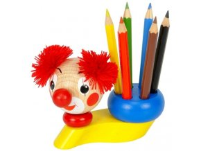 Stojánek na tužky hračka ze dřeva Klaun Mark