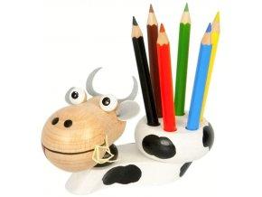 Stojánek na tužky hračka ze dřeva Kráva Nora