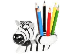Stojánek na tužky hračka ze dřeva Zebra Katie