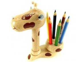 Stojánek na tužky hračka ze dřeva Žirafa Jody
