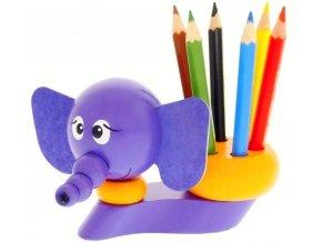 Stojánek na tužky hračka ze dřeva Slon John
