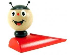 Zarážka pod dveře hračka ze dřeva - Beruška
