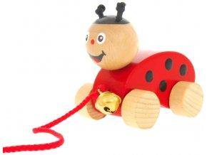 Tahací hračka ze dřeva Beruška s rolničkou  Daisy