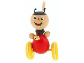 Strkadlo Beruška hračka ze dřeva Olivia