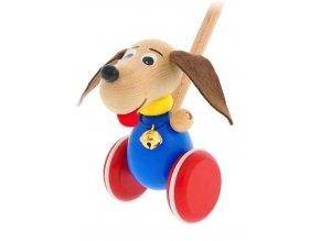 Strkadlo Pes hračka ze dřeva Oscar